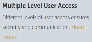 Multiple Level User Access