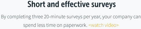 Short and effective surveys