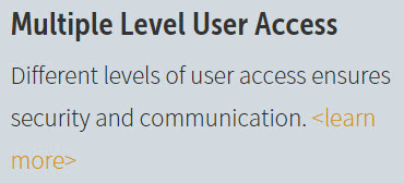 Multiple Level User Access